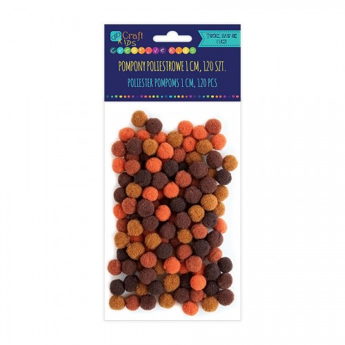 Acrylic  Pom Poms,120Pcs,Mix  Brown