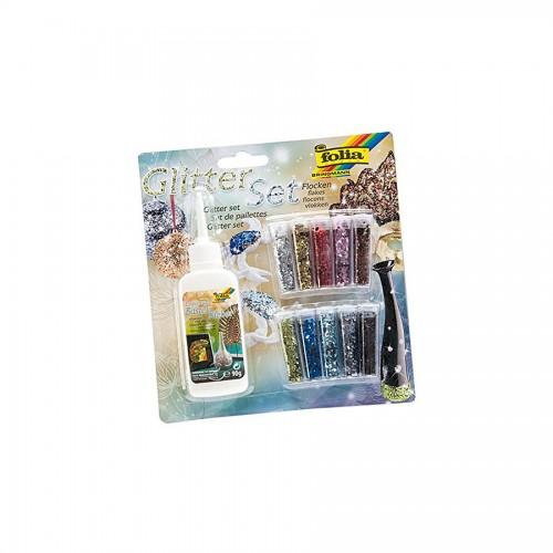 Glitterpowder Set  10 Vials Deco Material