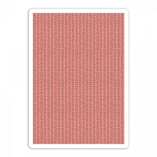 -50% A4 Textured Impressions Embossing Folder  Plus
