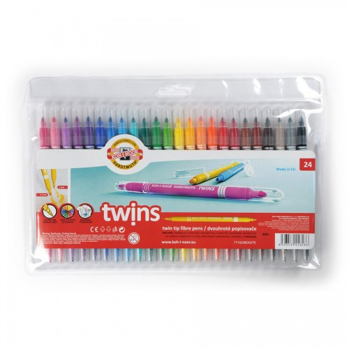 SET OF FIBRE PENS 1023 24 TWIN