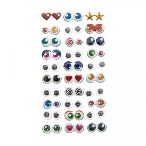 Puffy Stickers - Eyes, 30 Pcs