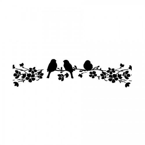 Stencil E Cm. 60X7 Birds On Tree