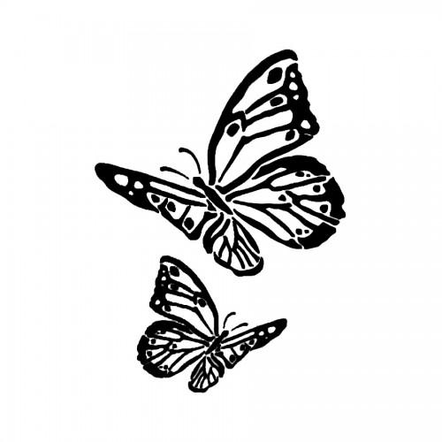 Stencil G Cm. 21X29,7  Butterflies