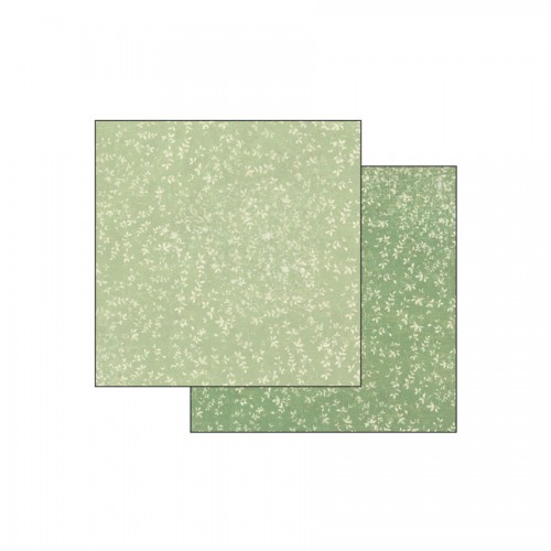 Double Face Scrap Paper -  Texture Leaves On Green Background