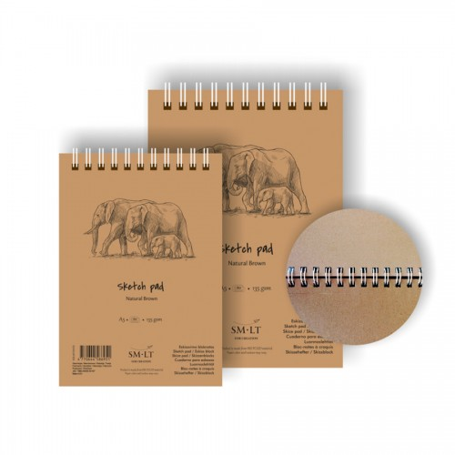 Sketch Pads Authentic (Brown)A5, 135 Gsm, 80 Sheet