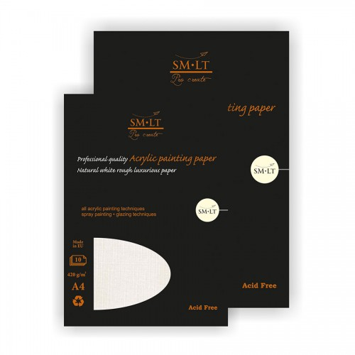 Pro Create Acrylic Painting Pad,A4, 420Gsm, 10 She