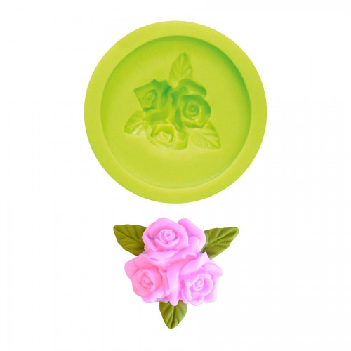 3D Silicon Mold Rose 40 Mm