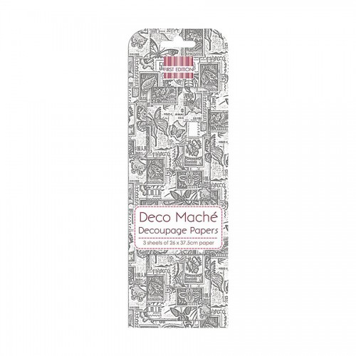 First Edition Fsc Deco Mache  Monochrome Stamps