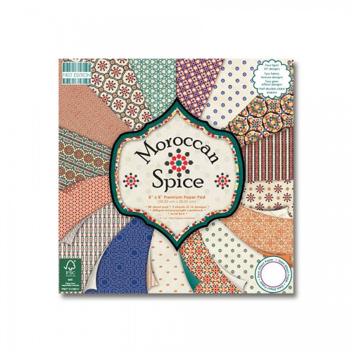 Paper and Cardstock pads 20x20cm, Moroccan Spice