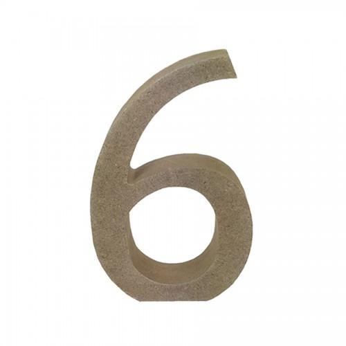 Mdf Number Blank  6