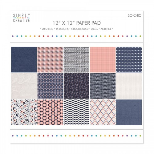 Paper and Cardstock pads 30x30cm, So Chic