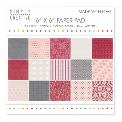 Paper and Cardstock pads 15x15cm, Dovecraft, Made With Love
