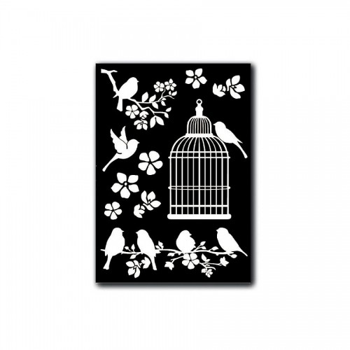 Decotransfer -  A5Size - Cage And Birds