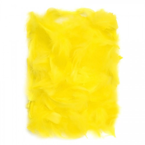 Feathers 5-12 Cm, 10 G Yellow