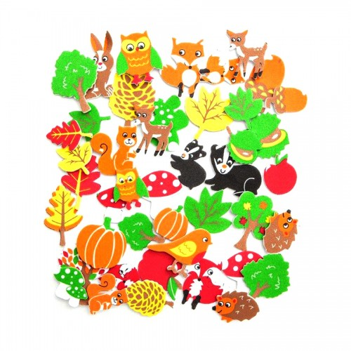 Printed Foam Stickers - Forest, 96 Pcs