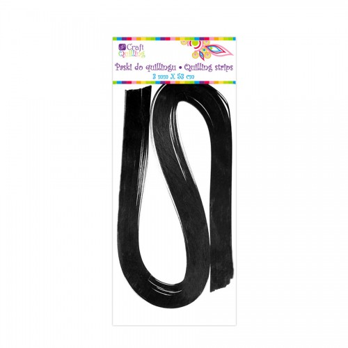 Quilling Strips 3 Mm - Black, 100 Pcs