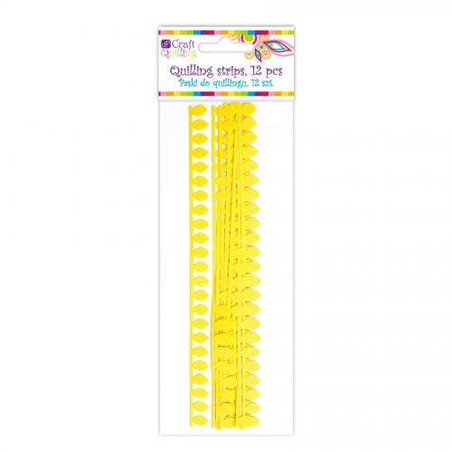 Daisy Petal Quilling Strips - Yellow, 12 Pcs
