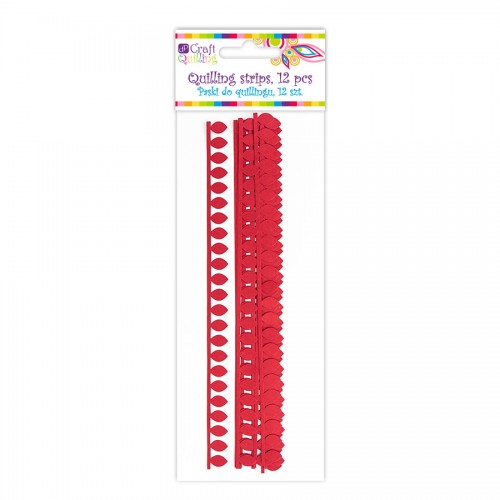 Dasiy Petal Quilling Strips - Red, 12 Pcs