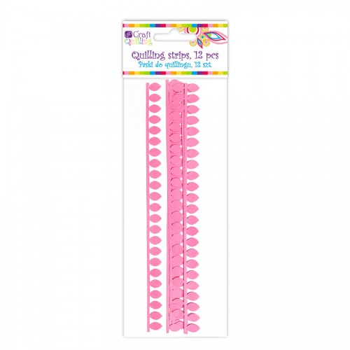 Daisy Petal Quilling Strips - Pink, 12 Pcs