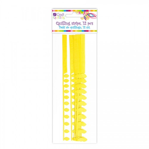 Daisy&Fringe Petal Quilling Strips - Yellow, 12 Pc