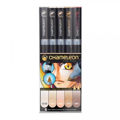 Chameleon, 5 Pen Set Skin Tones