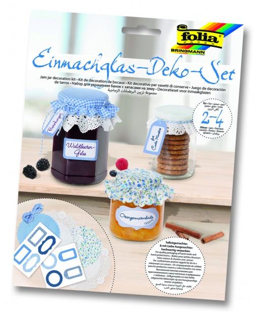 Jam jar decoration kit.