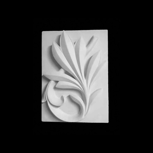 Plaster Modell For Painting Palm Branch