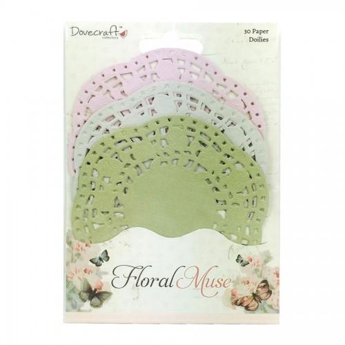 Dovecraft Floral Muse Paper Doilies
