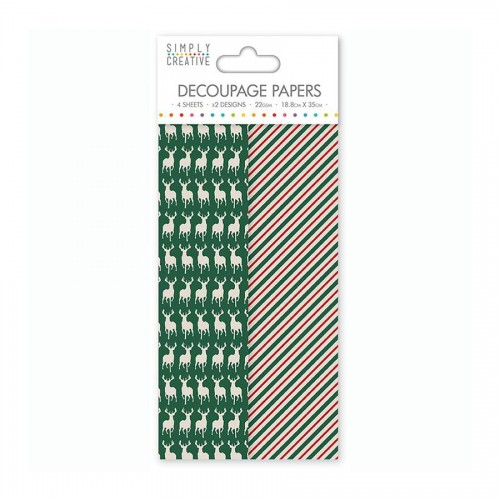 Simply Creative Decoupage Paper  Green Stag