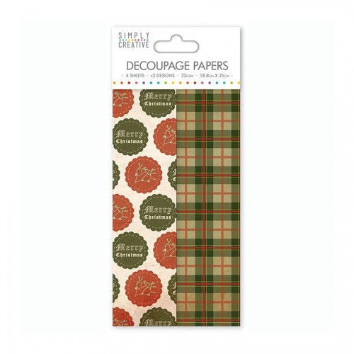 Simply Creative Decoupage Paper  Christmas Badges