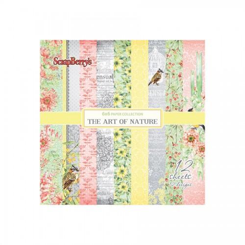 "Scrapbooking paper set 6""*6"" The Art of Nature 190"