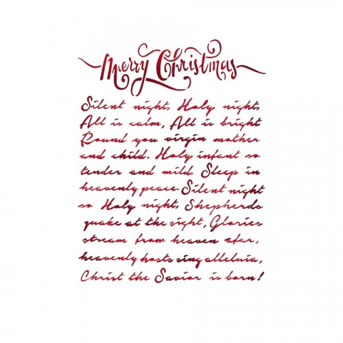 Stencil D  Cm. 20X15 Merry Christmas