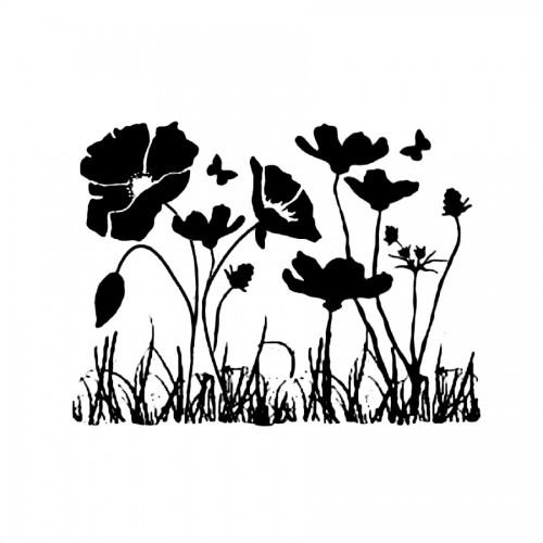 Stencil D  Cm. 20X15 Poppies