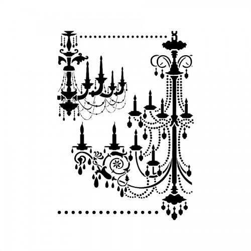 Stencil G Cm. 21X29,7 Chandeliers
