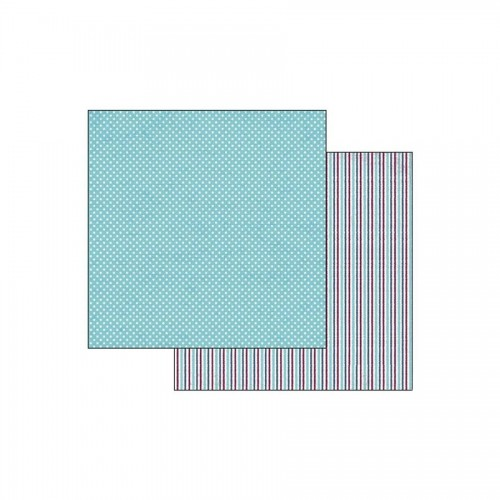 Double Face Scrap Paper -Texture Polka Dots Turquoise Background