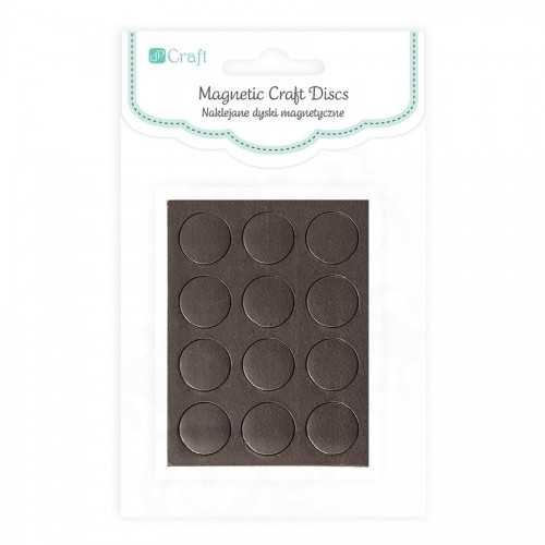 Magnetic Craft Disc - 1,27 Cm, 12 Pcs