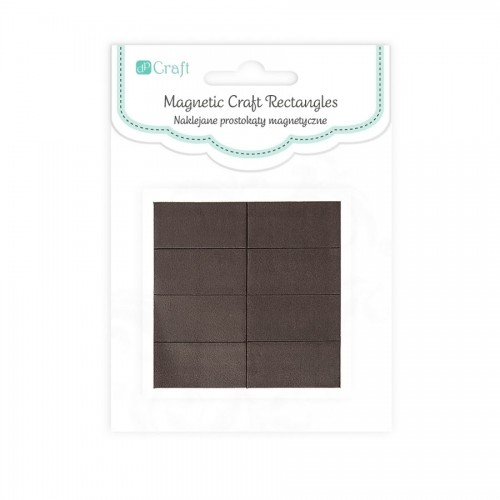 Magnetic Craft Rectangles - 1,27 Cm X 2,5 Cm, 12 P