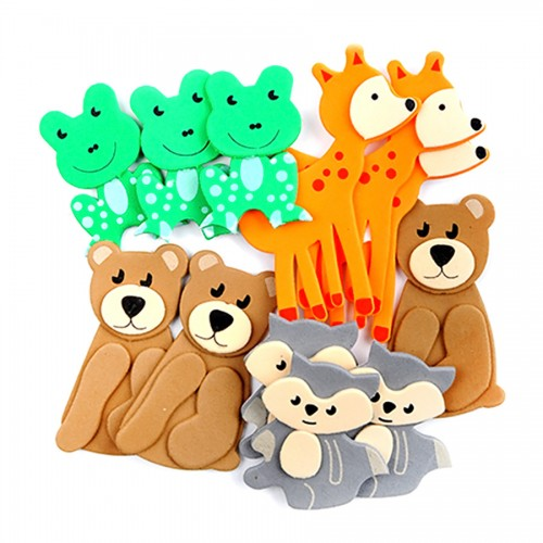 3D Foam Stickers - 12 Pcs