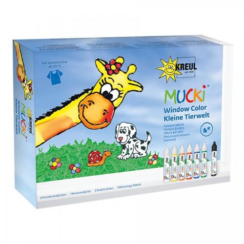 Mucki Window Color Set Kleine Tierwelt