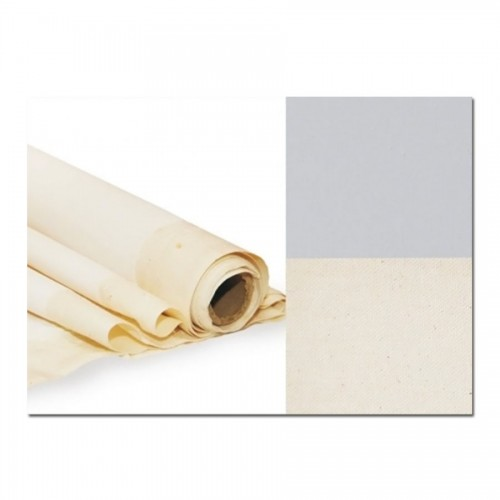 Primed Cotton Canvas, Width 2Х3M, Extra Fine Grain, Gray