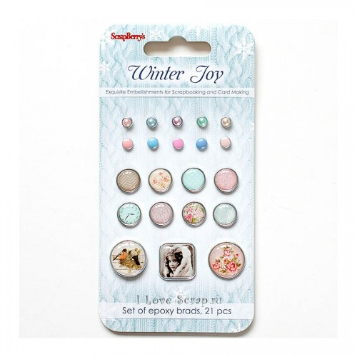Brads Set Winter Joy, 21Pcs