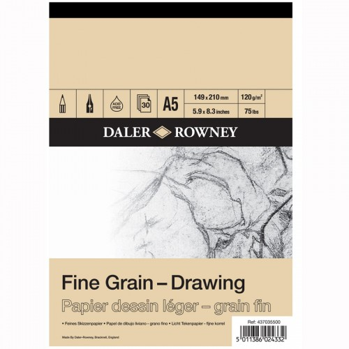 FINE GRAIN DRAWING PAD A5 120G