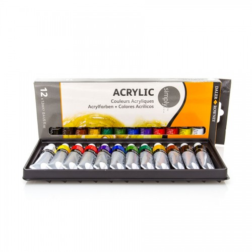"Acrylic colour set ""Simply"" 12x12ml Daler-Rowney"