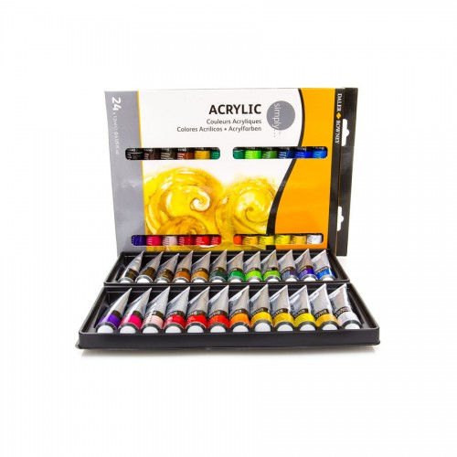 "Acrylic colour set ""Simply""  24x12ml Daler-Rowney"