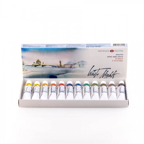 Watercolour set White Nights in tubes 12x10ml
