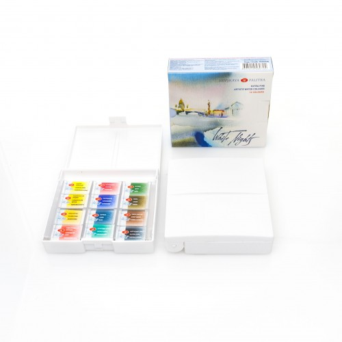 White Nights,12 Pans Set ,Plastic box Water colour