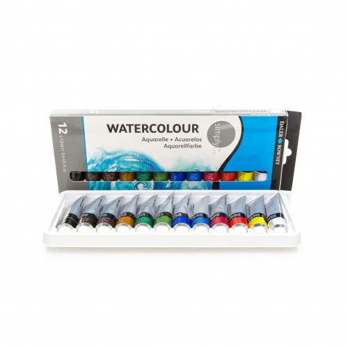 """""""Simply""""12x12 ml  Set Water colour  Daler-Rowney"""
