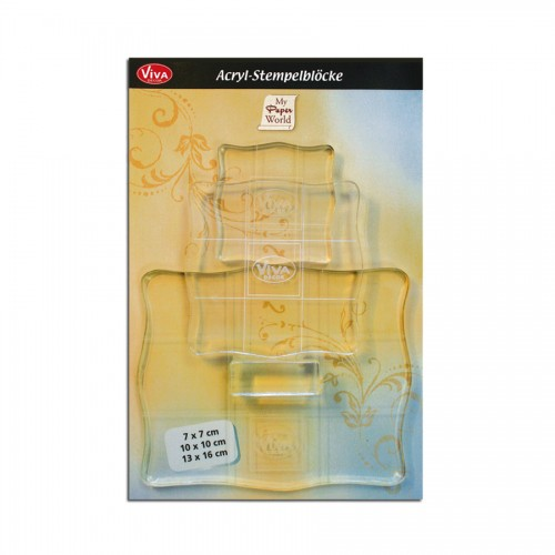 Acrylic  Stempel Block Set  ,3Pcs  Viva Decor