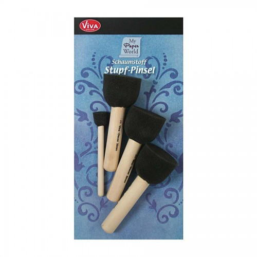 Sponge Brushes Set ( 4 Pcs) Viva Decor