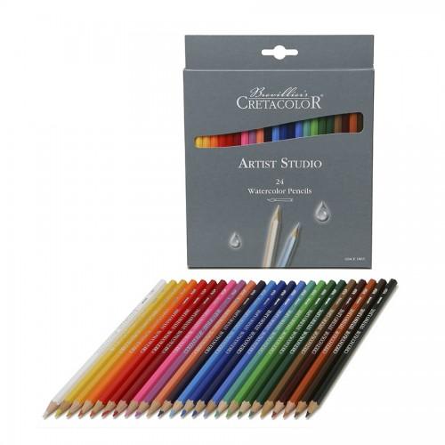 """Set Of Aquarel Col-Pencils """"Studio""""24 Pcs Cretacolor"""